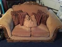 Nice two piece Sofa and Love Seat Set asking price: