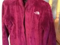 North face girls osolita fleece jacket, size XL,