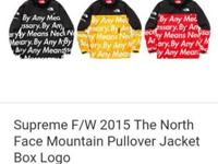 AUTHENTIC North Face X Supreme Mountain Pullover that
