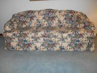 Norwalk Furniture Flower Couch in good condition. The