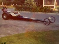 "FRONT ENGINE DRAGSTER OF THE DAY 175"" W.B., BUILT IN"