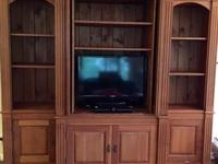 Nottingham Antiques Solid Pine Bookcase/Entertainment