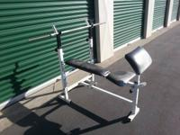 I have a small weight bench with basic bar and about