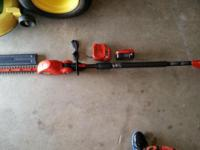 "Cordless B&D Pole Hedge Trimmer 18""cut/18volt. Around"