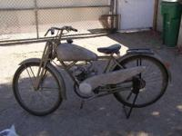1940 NSU runs WWII German Military motorbike. 3 speed