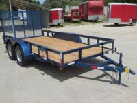 "NTTP Tandem Axle Angle Top 77"" X 14' Utility Trailer"