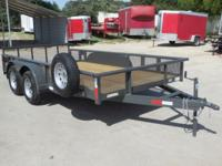 "NTTP Tandem Axle Pipe Top 83"" X 14' Utility Trailer"