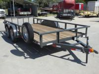 New 2014 NTTP Tandem Axle 7 X 16 Heavy Duty Pipe Top