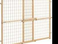Nuline plastic mesh pressure mounted security gate.