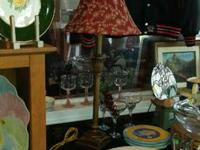 """Lamp with the red color for $19. Works. Measures 30""""H."""