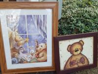 2 different nursery bear pics $4 each, pick up on south