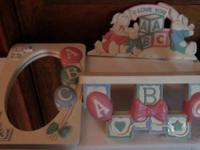 Unique set of Nursery Decorations perfect for a baby