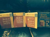 I have 4 Medical Surgical Nursing books for sale. There