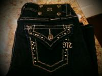 NEW WITH TAGS - MISS ME JEANS SIZE : 25 INSEAM : 33