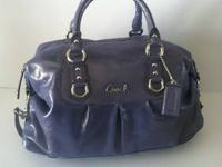 NWT Coach Leather Ashley Satchel Duffle Bag Purse Tote