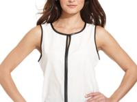 Pair this chic NY Collection sleeveless top -- boasting