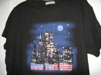 Ladies One Size-Fits Most T Shirt of NYC Skyline with