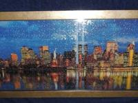 The big apple City skyline puzzle with 911 remembrance