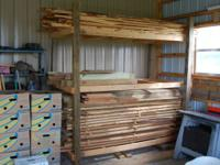 "I have oak boards plained and rough cut 8' long. 4"" to"