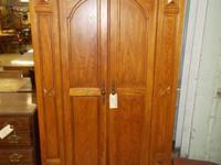Good oak 2 door armoire home entertainment. View the