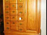 NEW Oak Armoire Please contact Harris Furniture