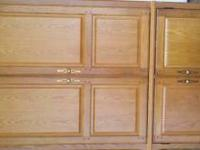 Beautiful Oak Armoire. Excellent new condition.