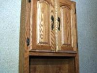 "Bathroom Oak Medicine Wall Cabinet 30 1'4"" high x 21"