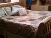 Oak Bedroom Set includes head board, foot board,