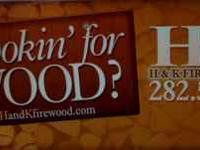FIREWOOD: Oak, Mesquite, or Cedar, your choice $150 1/2