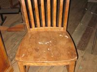 Oak chair $25.00 If interested Please call  No e-mail