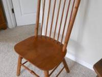 Solid Oak chair, excellent condition-$35 Respond to add