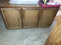 Oak china closet ... Excellent condition. 2 piece set.