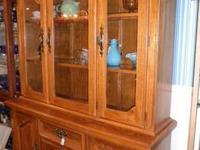 Oak China Hutch Price $599.00 US Description I have a