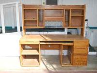 Oak computer hutch/desk $100 OBO.... or  Location: