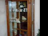 Solid oak curio cabinet, CONTENTS NOT INCLUDED, Contact