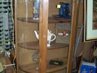 BEAUTIFUL CURIO CABINET ...................YOU CAN SEE