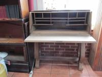 OAK DROP DOWN DESK. can fit into stacking bookcase or