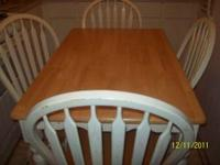 I have a white oak dining table that seats 4. All 4