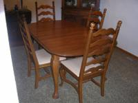 Solid Oak Temple Stuart Queen Anne style table and