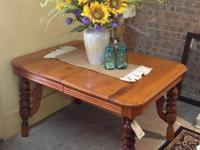 Oak Table.  Available at Saved By Grace Antiques 517