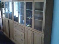 Oak display cabinets nice $900.00  // //]]> Location: