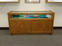 I have several solid oak/ glass displays they range in