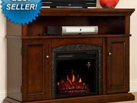"This Oak electric fireplace features a 26"" Electric"
