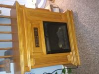 i Have an Oak Electric Fireplace for sale.bought about