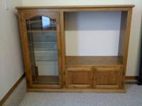 i have a very nice oak entertainment center inside the