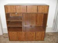 For Sale. Beautiful, Oak Entertainment Center in
