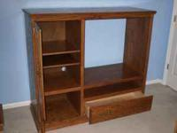 "Oak Entertainment Center Fits up to 27"" TV email, or"