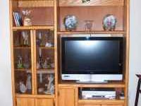 Oak entertainment center. This piece is in great