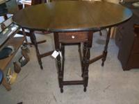 I have a nice old Oak, dark stained Gateleg Table with