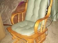 Great condition. Well built glider with sage green seat